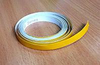 Лента светоотражающая самоклеющаяся желтая 10мм х 1м для автомобиля