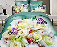 Яркий комплект постельного белья из сатина