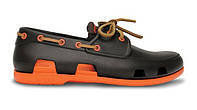 Crocs Beach Line Boat Shoe Brown Orange, фото 1