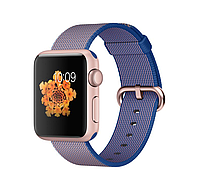 38mm Rose Gold Aluminum Case with Royal Blue Woven Nylon