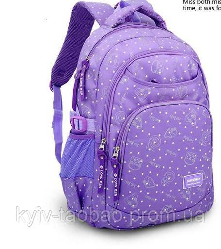 Рюкзак школьный для девочки 42*30, фиолетовый