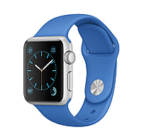 38mm Silver Aluminum Case with Royal Blue Sport Band