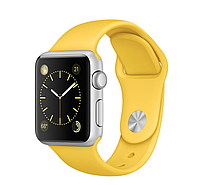Apple iWatch 38mm Silver Aluminum Case with Yellow Sport Band
