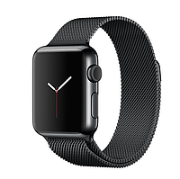 38mm Space Black Stainless Steel Case with Space Black Milanese Loop