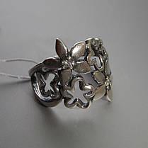Шикарное серебряное кольцо в виде цветочного букета со вставками из фианита, фото 2