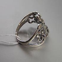 Шикарное серебряное кольцо в виде цветочного букета со вставками из фианита, фото 3