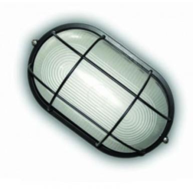 Свет-к LEMANSO овал метал. 100W с реш. BL-1202 белый/черный