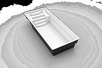 Бассейн для дачи композитный стеклопластиковый 11,0*3,6*1,5