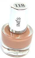 Лак для ногтей INES №118 перламутровый коричневый