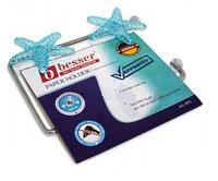 Бумагодержатель универсальный 16.5 * 9.5 * 2 см на двух присосках, декорированных (a0173)