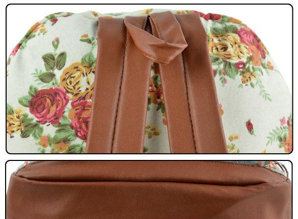 Женский рюкзак в цветах