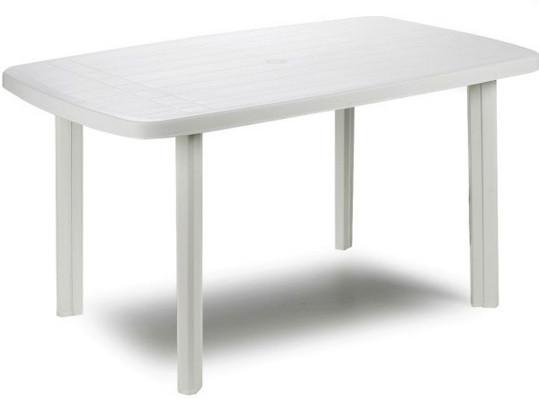 Стол садовый Faro 137х85 белый