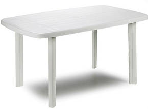 Стол садовый Faro 137х85 белый, фото 2