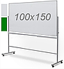 Оборотно-мобильная комбинированная доска 100х150см