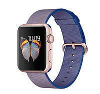 42mm Rose Gold Aluminum Case with Royal Blue Woven Nylon
