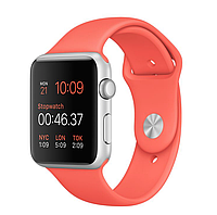 42mm Silver Aluminum Case with Apricot Sport Band