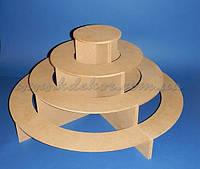 Подставка полукруглая №1 (из 2 частей) для капкейков, кексов, конфет