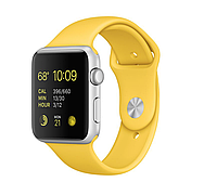 Apple iWatch 42mm Silver Aluminum Case with Yellow Sport Band