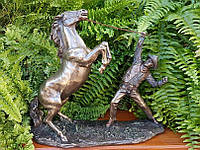 Коллекционная статуэтка Veronese Ковбой - Приручение лошади WU76869A4