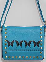 Женский клатч бабочка голубой, фото 1