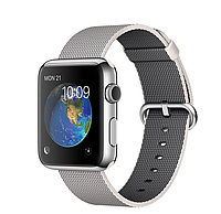 Apple iWatch 42mm Stainless Steel Case with Pearl Woven Nylon