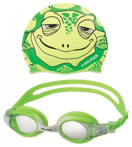 Набор очки + шапочка для деток METEOR CHARACTER (Зеленые)