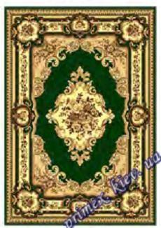 """Синтетический ковер эконом-сегмента Gold Karat """"Прохлада"""", цвет бежево-зеленый"""