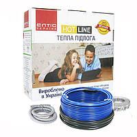 Двужильный нагревательный кабель HOT LINE ДК- 200 200Вт 12м, 1,2-1,5 кв.м, ЕЛТІС Україна