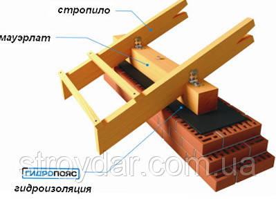 Гидропояс мауэрлат 0,3 х 30 м из HDPE (отсекающая гидроизоляция ленточного типа)