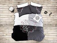 First Choice VIP Satin Комплект постельного белья JADE GRI евроразмер