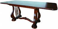 Стол деревянный раскладной Лира темный орех 140(+50)х85х75 см