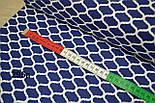 Бязь мини-марокко синего цвета ( № 295а), фото 3