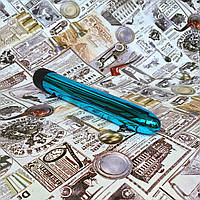 Гладкий вибратор Silver Lover - Все цвета Синий
