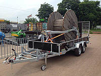 Прицеп для транспортировки экскаватора со стапелем под 2т бухту кабелей!