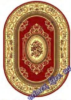 """Синтетический овальный ковер эконом-сегмента Gold Karat """"Плетение"""", цвет бежево-красный"""