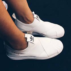 Кроссовки женские Adidas Superstar Slip On / ADW-736 (Реплика)
