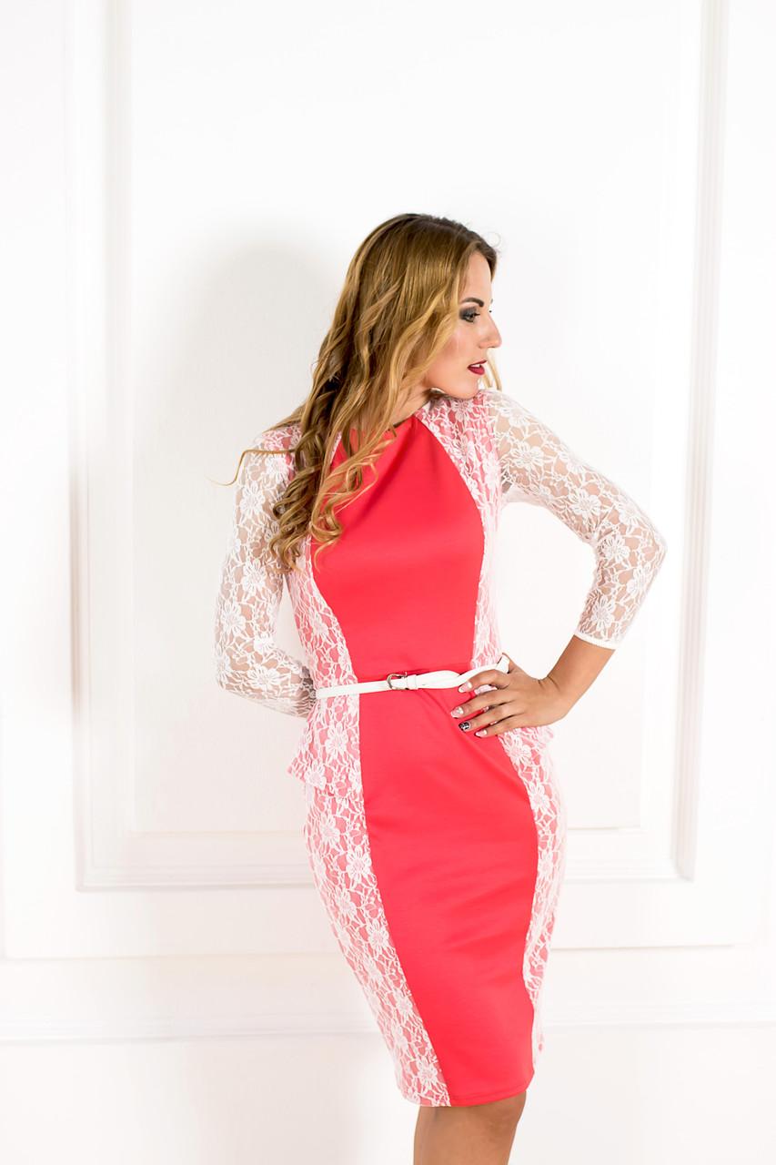 Стильное трикотажное платье  K 24-1, фото 1