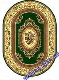 """Синтетический овальный ковер эконом-сегмента Gold Karat """"Плетение"""", цвет бежево-зеленый"""