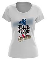 Стильная женская футболка с модным принтом FULL FLOOR