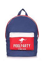 Молодежный рюкзак Poolparty Kangaroo darkblue-red-white
