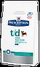 Лечебный корм для собак для гигиены ротовой полости у собак Hills Diet t/d