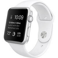 Apple Watch Sport 42mm Silver Aluminum Case with White Sport Band ( MJ3N2 )