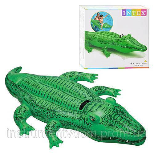 """Детский надувной плотик для плавания INTEX 58546 """"Крокодил"""" (168х86 см)"""