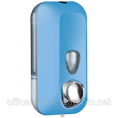 Дозатор в голубом цвете,0,55л ,пластик
