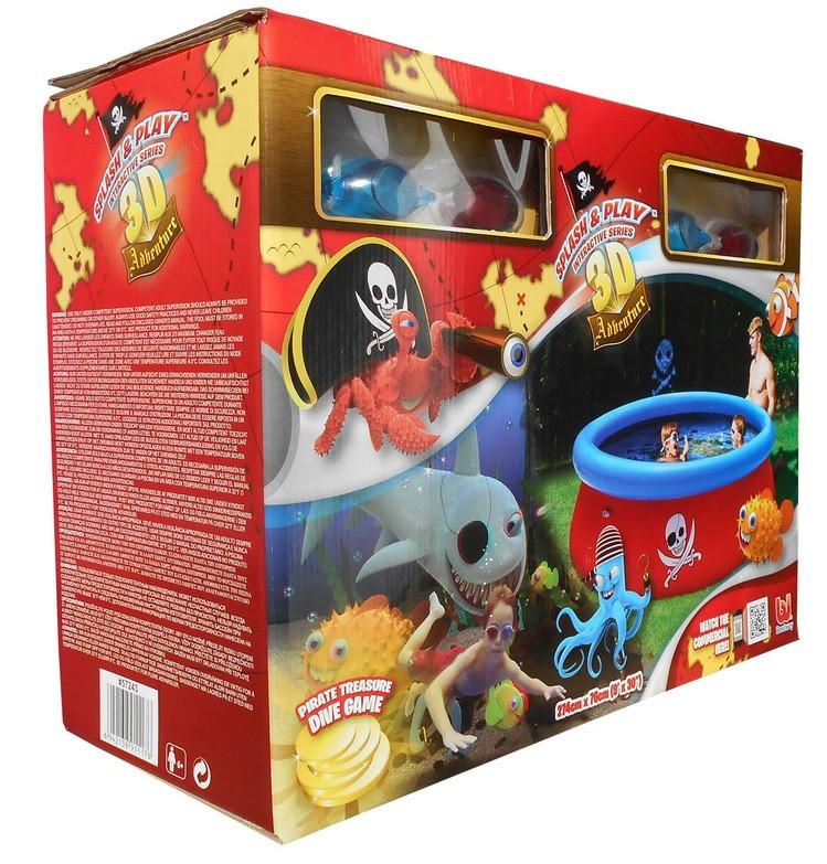 Упаковка наливного бассейна bestway 57243 3D