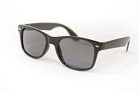 Стильные детские очки в черной оправе