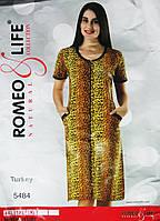 """Летний халат больших размеров """"Romeo&Life"""" 4XL,5XL,6XL Турция"""