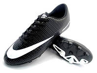 Детские футбольные бутсы Nike Mercurial FG Black/White, фото 1