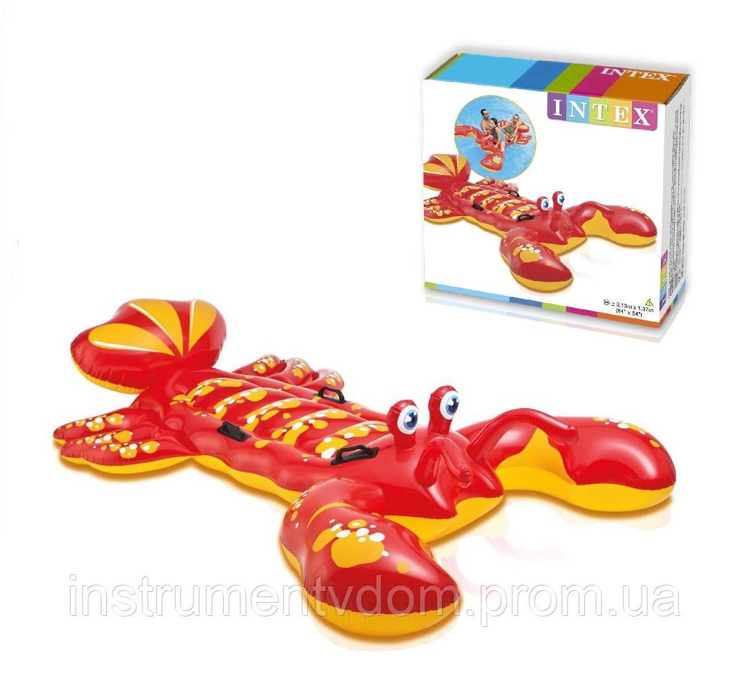 """Детский надувной плотик для плавания INTEX 57528 """"Лобстер"""" (213х137 см)"""