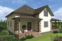 Двухэтажный дом «проект 11» 171 м2